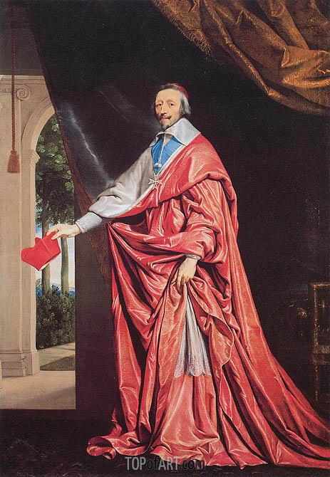 Philippe de Champaigne | Portrait of Cardinal Richelieu, c.1635/40