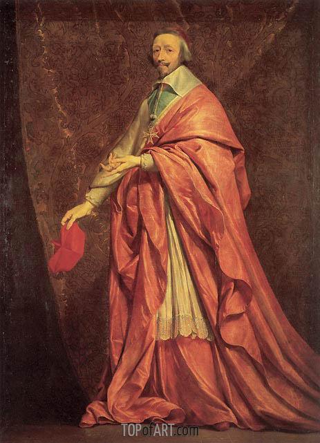 Philippe de Champaigne | Portrait of Cardinal Richelieu, c.1639