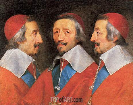 Philippe de Champaigne | Triple Portrait of Cardinal Richelieu, 1642