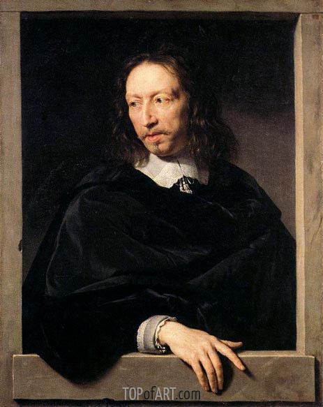 Philippe de Champaigne | Portrait of a Man, possibly of Robert Arnauld of Andilly, 1650