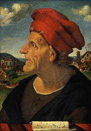 Portrait of Francesco Giamberti, Cabinetmaker, c.1482 by Piero di Cosimo | Painting Reproduction
