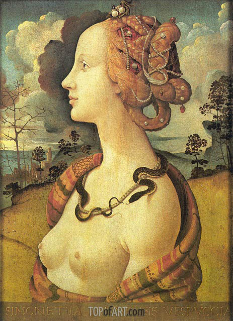 Portrait of Simonetta Vespucci, before 152 | Piero di Cosimo | Painting Reproduction