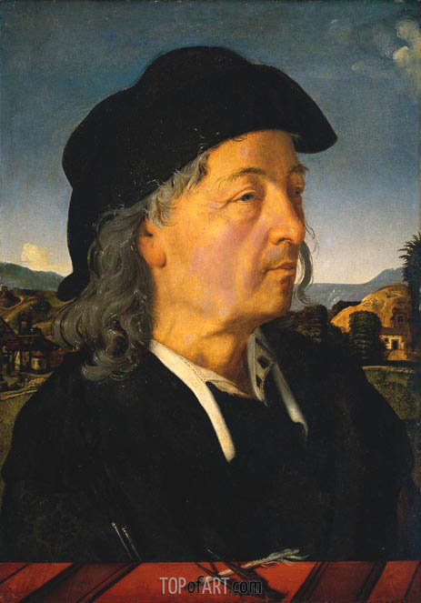 Portrait of Giuliano da San Gallo, c.1500 | Piero di Cosimo | Painting Reproduction
