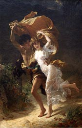 The Storm, 1880 by Pierre-Auguste Cot | Painting Reproduction