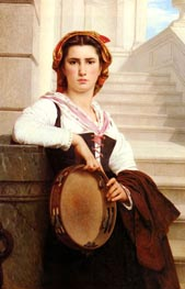 The Bohemian, 1871 by Pierre-Auguste Cot | Painting Reproduction