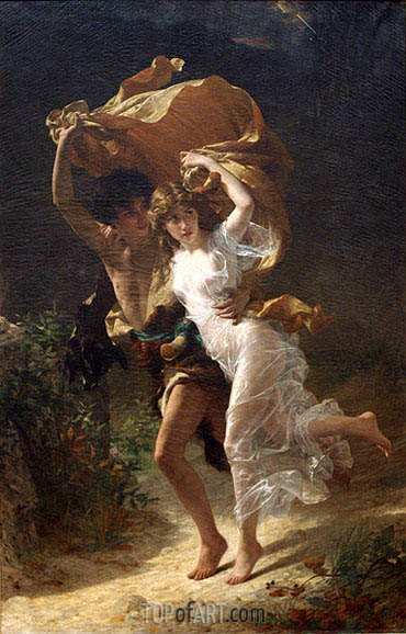 The Storm, 1880 | Pierre-Auguste Cot| Painting Reproduction