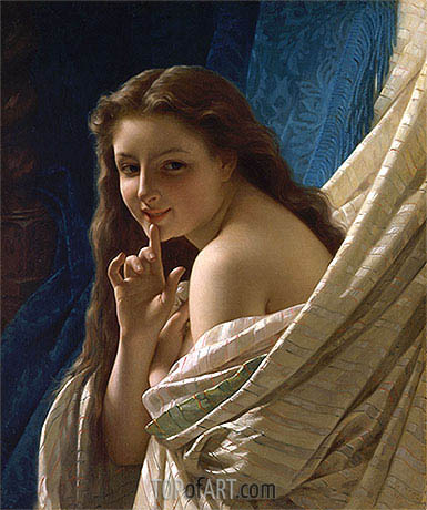 Portrait of a Young Woman, 1869 | Pierre-Auguste Cot| Painting Reproduction