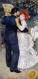 Dance in the Country (Dance at Chatou), 1883 von Renoir | Gemälde-Reproduktion