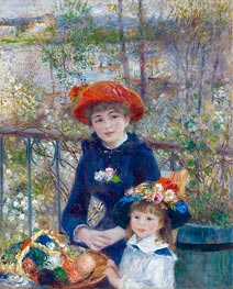 Two Sisters (On the Terrace), 1881 by Renoir | Painting Reproduction