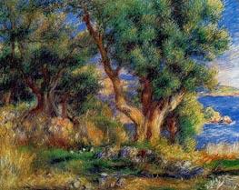 Landschaft an der Küste in der Nähe von Menton, 1883 von Renoir | Gemälde-Reproduktion