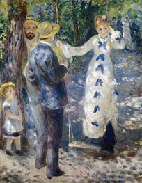 The Swing, 1876 by Renoir | Painting Reproduction