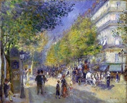 The Boulevards of Paris, 1875 von Renoir | Gemälde-Reproduktion