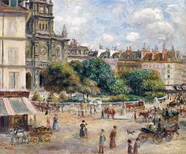 Place de la Trinite, Paris, 1875 von Renoir | Gemälde-Reproduktion