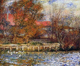 The Duck Pond, 1873 by Renoir | Painting Reproduction