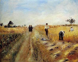 The Harvesters, 1873 von Renoir | Gemälde-Reproduktion