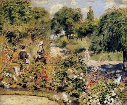 The Garden at Fontenay, 1874 von Renoir | Gemälde-Reproduktion
