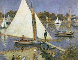 The Seine at Argenteuil (Sailboats at Argenteuil), c.1873/74 von Renoir | Gemälde-Reproduktion