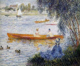 Boating at Argenteuil, 1873 von Renoir | Gemälde-Reproduktion
