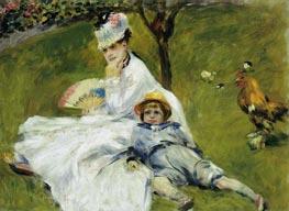 Madame Monet und ihr Sohn | Renoir | Gemälde Reproduktion