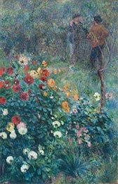 The Garden in the Rue Cortot at Montmartre, 1876 von Renoir | Gemälde-Reproduktion