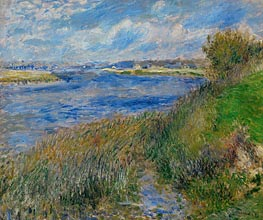 The Banks of the Seine at Champrosay, 1876 von Renoir | Gemälde-Reproduktion