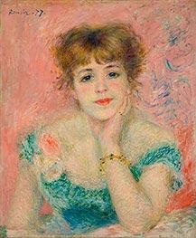 Büste von Jeanne Samary (Tagträumerei) | Renoir | Gemälde Reproduktion