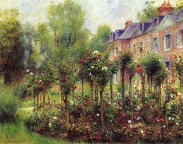 Der Rosengarten in Wargemont, 1879 von Renoir | Gemälde-Reproduktion