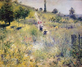 Path Leading through Tall Grass | Renoir | Gemälde Reproduktion