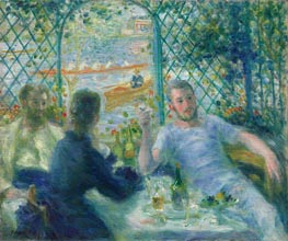 Lunch at the Restaurant Fournaise, c.1879 by Renoir | Painting Reproduction