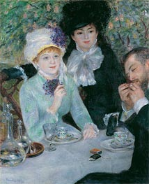 The End of the Luncheon, 1879 by Renoir | Painting Reproduction
