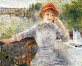 Alphonsine Fournaise on the Isle of Chatou, 1879 by Renoir | Painting Reproduction