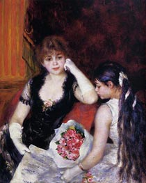 At the Concert (Box at the Opera), 1880 by Renoir | Painting Reproduction