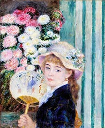 Girl with a Fan, c.1879/80 by Renoir | Painting Reproduction
