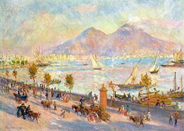 Mount Vesuvius in the Morning, 1881 by Renoir | Painting Reproduction