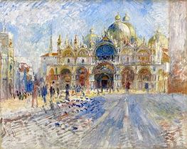 The Piazza San Marco, Venice, 1881 by Renoir | Painting Reproduction