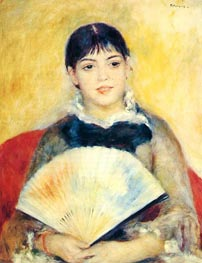 Girl with a Fan | Renoir | veraltet