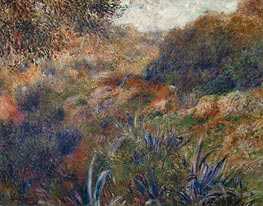 Algerian Landscape (The Ravine of the Wild Women), 1881 by Renoir | Painting Reproduction