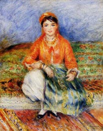 Algerian Girl, 1881 by Renoir | Painting Reproduction