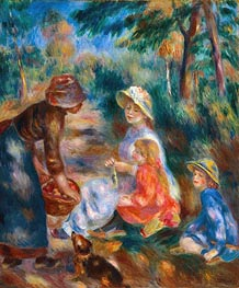 The Apple Seller, c.1890 von Renoir | Gemälde-Reproduktion