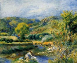 The Washerwoman (The Laundress), c.1891 von Renoir | Gemälde-Reproduktion