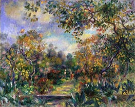 Landscape at Beaulieu | Renoir | Gemälde Reproduktion