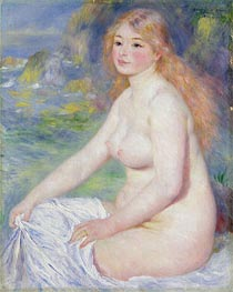 Blonde Bather, 1881 by Renoir | Painting Reproduction