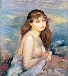 After the Bath (Little Bather), 1887 by Renoir | Painting Reproduction