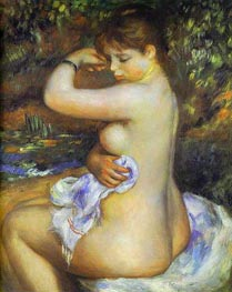 After the Bath, 1888 by Renoir | Painting Reproduction