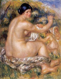 After the Bath, 1912 by Renoir | Painting Reproduction