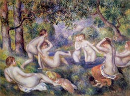 Bathers in the Forest, c.1897 by Renoir | Painting Reproduction
