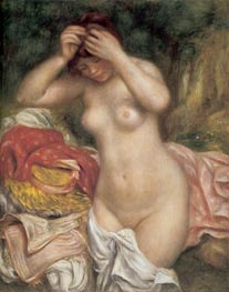 Bather Arranging her Hair, 1893 by Renoir | Painting Reproduction