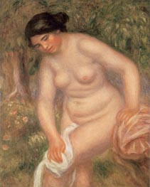 Bather Drying Herself, 1895 by Renoir | Painting Reproduction