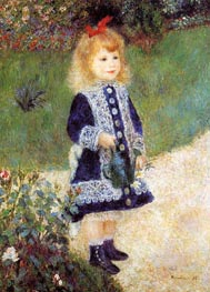 Girl with a Watering Can, 1876 by Renoir | Painting Reproduction