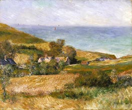 View of the Seacoast near Wargemont in Normandy | Renoir | Gemälde Reproduktion